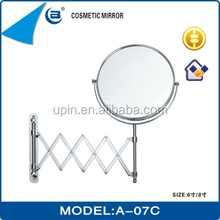stainless steel compact mirror two-way with extension handle ,A-07C