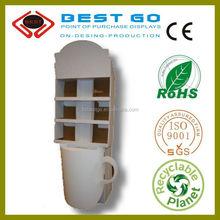 Cosmetic Cardboard Display Shlef , Pop Up Display, Mascara Display Stand, Disposable Paper Display Rack, Free Standing Display