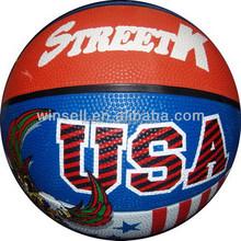 New design popular customized rubber basketball ball