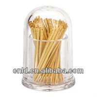 Clear acrylic dome for toothpick