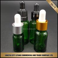 alibaba supply green nice perfume/ balm european glass bottle