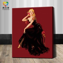 wholesale/oem digital painting sexy nude women painting girls photo sexy images