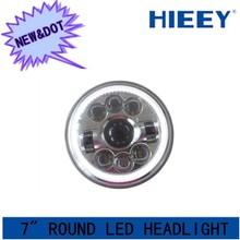 DOT approval 7 inch round automotive led headlight high and low beam for Truck,Jeep, Atv 7 inch headlight with DOT APPROVAL