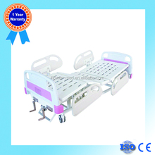 China Supply FB-11Two Cranks Hospital Patient Bed with ABS Side Rail and Silent Braking Castor