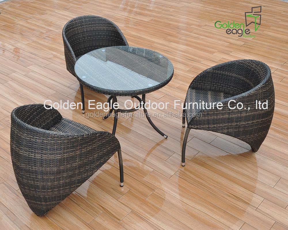 Outdoor Indoor Garden Rattan Wicker Aluminum Dining Set Semi Circle Patio Fur