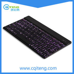 Hi-Q Ultra Slim Mini Wireless Bluetooth Keyboard With Varying 7 Colors LED Light