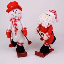 Wholesale Christmas decorations, Christmas crafts skiing snowman elderly