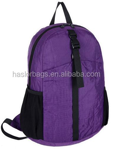 Pliage pas cher Promotion sac / noir sac à dos / sac d'école