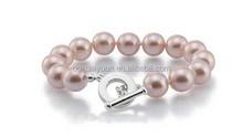 2015 best sell artificial pink pearl bead bracelet