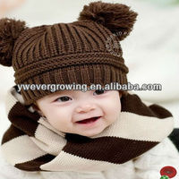 2013 cheap winter baby cap knitted wool hat kids hat