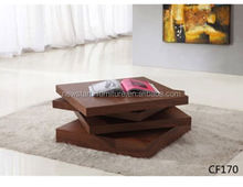 2013 new style simple design four layer rotary coffee table