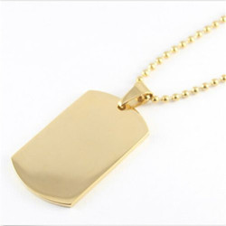 Yiwu Aceon high polished IPG gold plated stainless steel dog tag