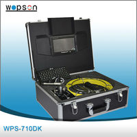 Waterproof leds sun shade vision pipe&wall inspection camera system