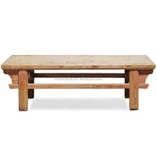 Vintage recycle wood outdoor seating bench