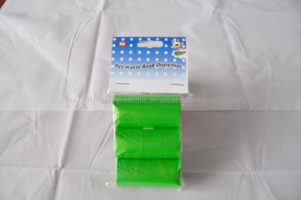 Biodegradable plastic pet waste bag