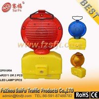 4R25 BATTERY LED TRAFFIC WARNING LIGHT WITH 2 pcs brightness led light