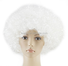 Fancy Dress Fashion White Afro Curly Wigs Funky Disco Clown Style Mens/Ladies Costume 70s wigs Hair W2088