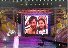 Black LED Pitch 4mm P4 slim panel led display for fixed and stage use