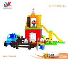 2015 New Product Happy Farm Plastic Blocks Building Toys DIY Toys