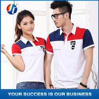 Latest cute couple shirt design polo t shirt customized