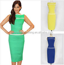 New Promotions Hot Trendy Fashion Sleeveless Dress Women Package Evening Dress