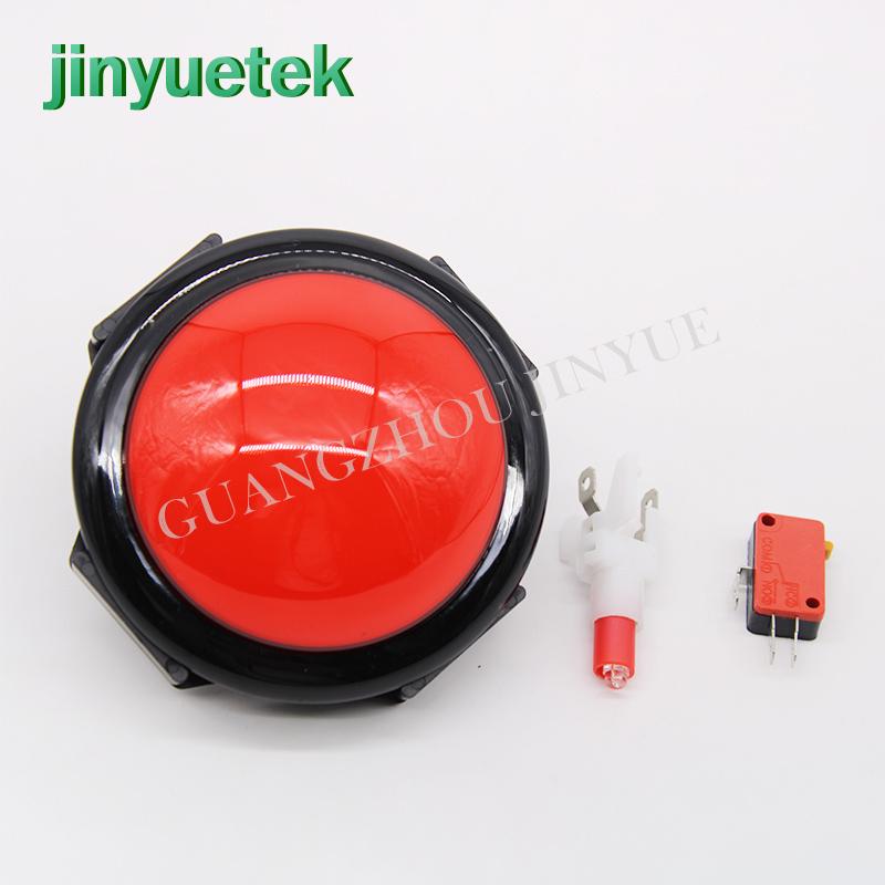 Jinyuetek échantillon gratuit bouton d'arcade lumière 100mm bouton poussoir d'arcade