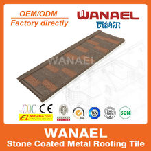 Wanael hail-resistance lightweight stone-coated metal roof tile/flat roof house plans