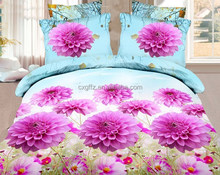 3D print polyester bedding sets light color