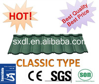 charcoal steel roof tile from china, colored roof tile for construction
