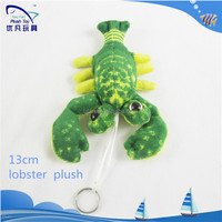 factory custom 3d lifelike lobster phone key chain stuffed charms Pendants Plush Keychain