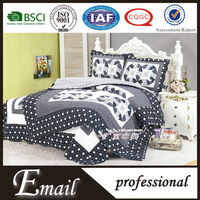 Cheap black quilted bedspread/bedding set/bed quilts made in india