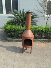 outdoor freestanding chiminea rust fire pit