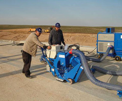 Portable/mobile shot-blasting pavement cleaning machine