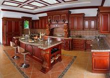 China Manufacturer Storage Cabinet Kitchen Furniture Solid Wood Kitchen Cabinet