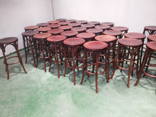 Mordern bentwood thonet chair for sales/industrial Metal thonet bistro kitchen pub seating bar chair bar stools