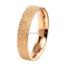 4mm Stylish Rose Gold Plated Ladies 316L Titanium Stainless Steel Ring Matte Finished Fashion Jewelry