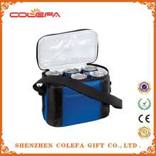 fashion designer freezer 6 can beer coolers aluminum foil nylon cooler bag