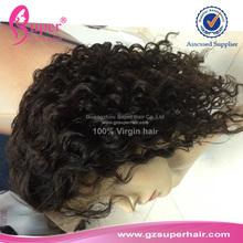 Virgin brazilian human hair half wig naked black women hair extensions shanghai