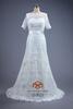 New Design A-line bateau Crystal Lace appliqued Wedding Dress Bridal Dress 2014 HMY-D430 vestido de noiva