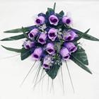 Festival decoração flor artificial botão de roxo rosa bush em vasos de flores artificiais