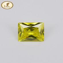 Synthetic Princess Cut yellow color Rectangle Shape Zircons