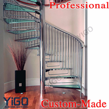 cast iron spiral stairs /design glass spiral staircase for small spaces
