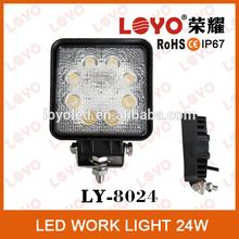 Offroad led light 24W spot flood beam 12V led worklight 24w Epistar LED work light