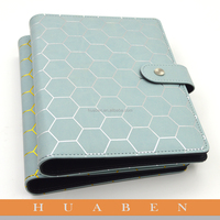 A5 calendar diary leather notebook with magnetic snap lock/hot stamping logo on the notebook cover