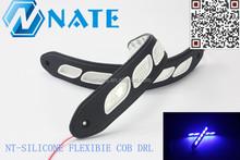 Car accessory uninversal daytime running light 8W led flexible cob DRL,high power fleixble cob drl