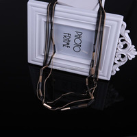 N1448 Free shipping Gold and gun black plated Mixed plating colors chians Thin Chain jewelry 2015 Layer long chain nekclace