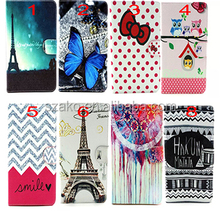 New Arrival Wallet Case for iPad Mini 1 2 3 4 Cute Cartoon Wave Flower Pattern Leather Flip Cover for iPad Mini 1 2 3 4