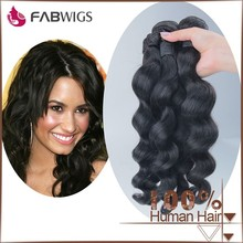 Fabwigs alibaba recommend best selling loose wave natural black brand name brazilian hair weave
