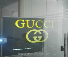 3D Self Adhesive Window Film/Transparent Holographic Foil/Rear Projection Film Shop Window Ads