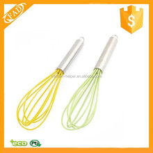 Most Popular Cheap Silicone Balloon and Flat Whisk Twist Milk and Egg Beater Blender